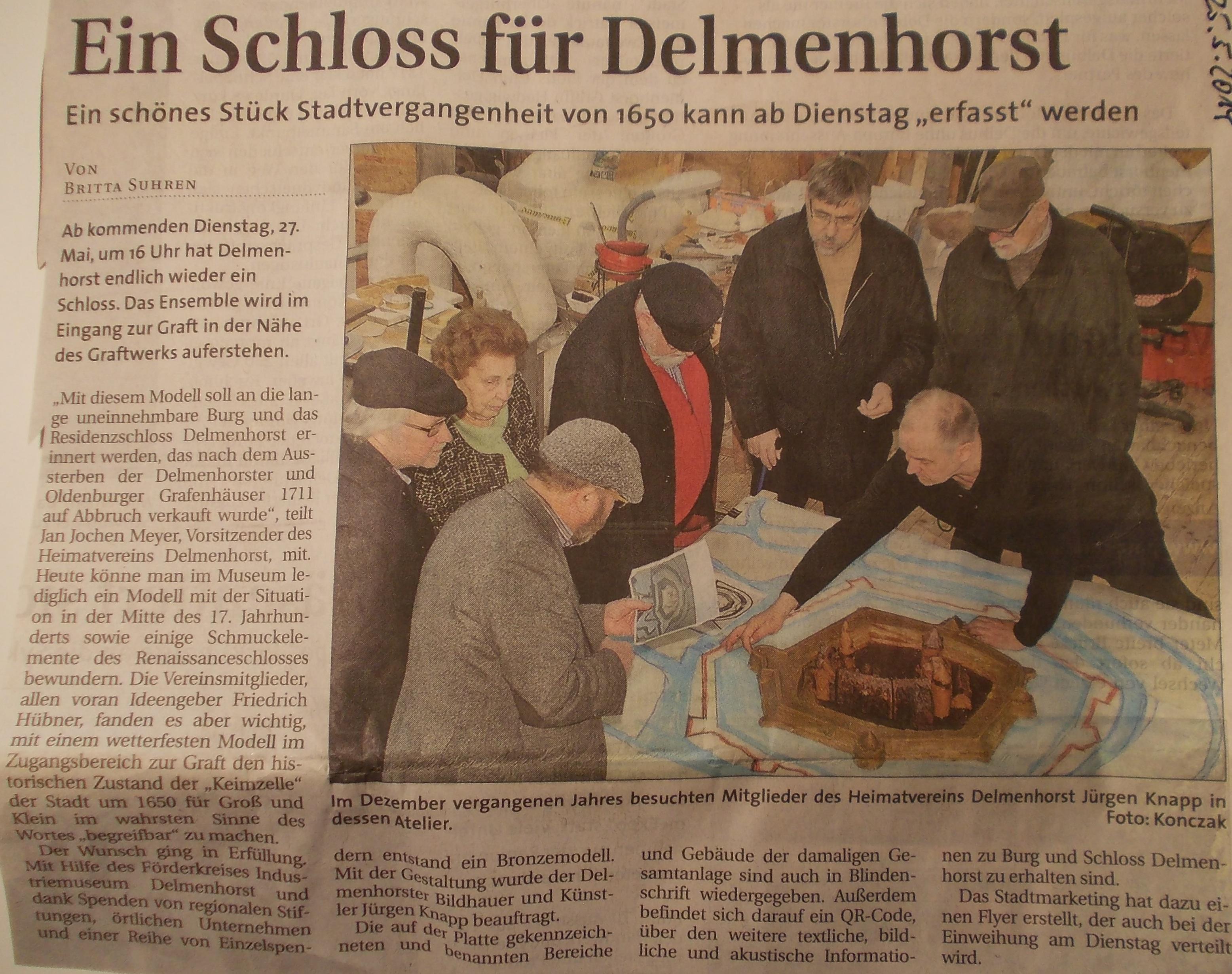 Pressebericht, Ein Schloss für Delmenhorst, Delmenhorster-Report