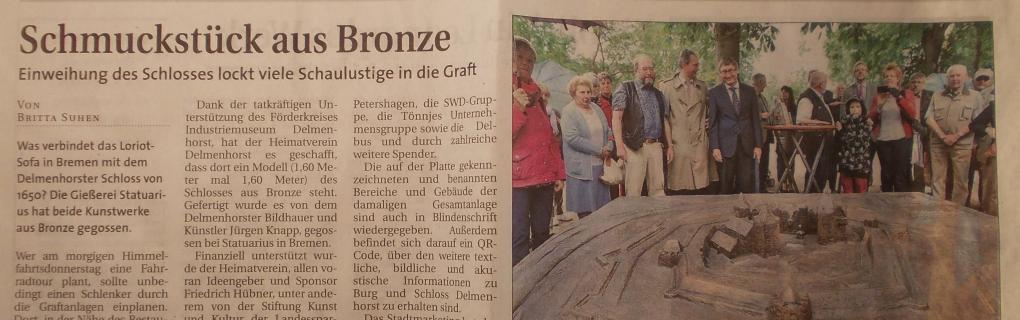 Pressebericht, Schmuckstück aus Bronze, Delmenhorster-Report