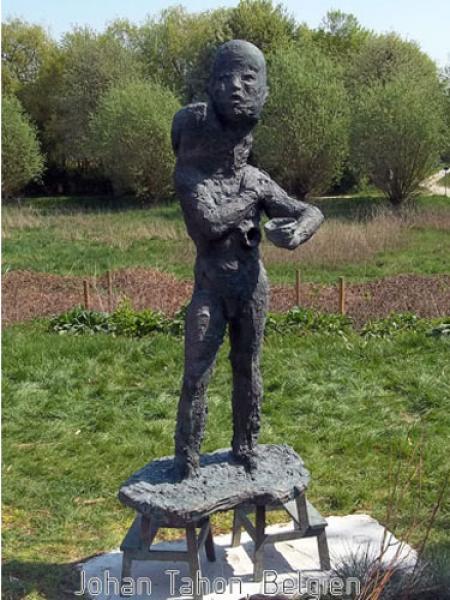 Bronzeskulptur Johan Tahon, The offer, Belgien, Wachsausschmelzverfahren, Schwerte, Bronzeplastik