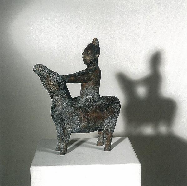 Bronzeskulptur Eberhard Szejstecki, Pferdebändiger, Wachsausschmelzverfahren, Gusshautpatina,