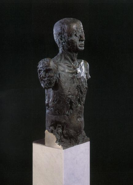 Bronzeskulptur Rolf Thiele, Aus dem Harburger Figurenensemle, Wachsausschmelzverfahren über Slikonnegativform