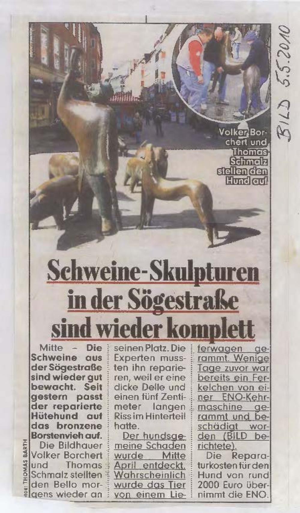 Schweineskulpturen